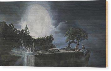 La Luna Bianca Wood Print by Guido Borelli