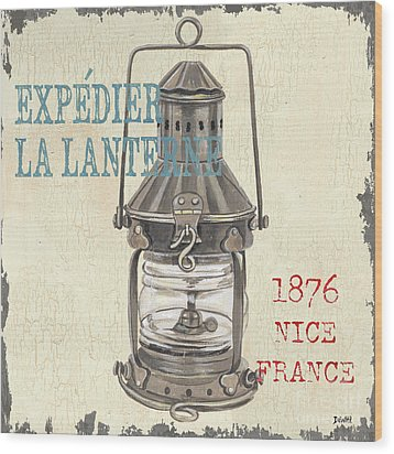 La Mer Lanterne Wood Print by Debbie DeWitt