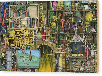 Laboratory Wood Print by Colin Thompson