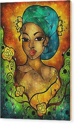Lady Creole Wood Print by Mandie Manzano