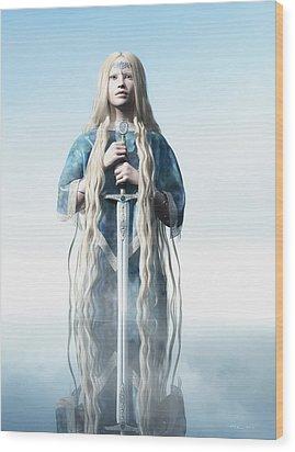 Lady Of The Lake Wood Print by Melissa Krauss