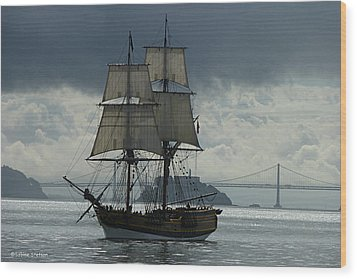 Lady Washington Wood Print by Sabine Stetson
