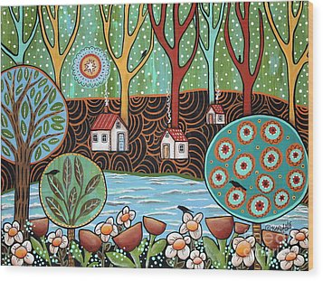 Lakeside1 Wood Print by Karla Gerard