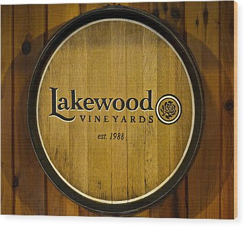 Lakewood Vineyards Wood Print by Frozen in Time Fine Art Photography