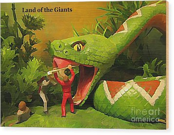 Land Of The Giants Wood Print by John Malone