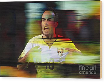 Landon Donovan Wood Print by Marvin Blaine