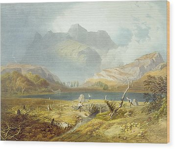Langdale Pikes, From The English Lake Wood Print by James Baker Pyne