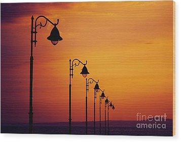 Lanterns Wood Print by Jelena Jovanovic