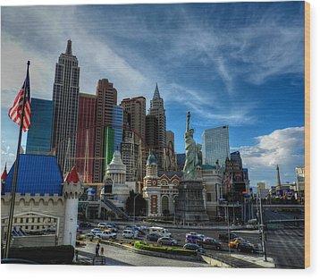 Las Vegas 051 Wood Print by Lance Vaughn