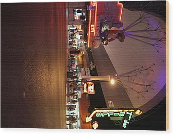 Las Vegas - Fremont Street Experience - 121223 Wood Print by DC Photographer