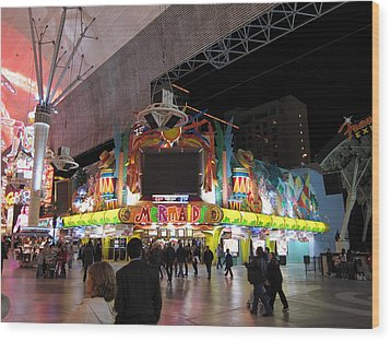 Las Vegas - Fremont Street Experience - 12128 Wood Print by DC Photographer