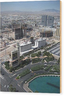 Las Vegas - The Srip - 12129 Wood Print by DC Photographer