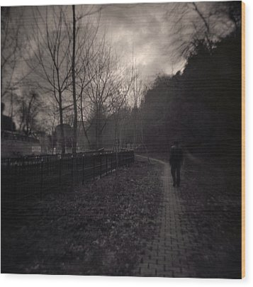 Last Alone Wood Print by Taylan Soyturk