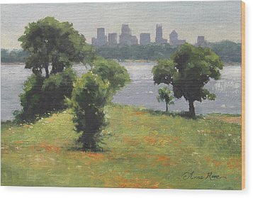 Late Afternoon At Winfrey Point Wood Print by Anna Rose Bain