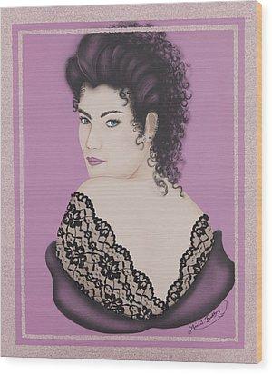 Latin Lace Wood Print by Nickie Bradley