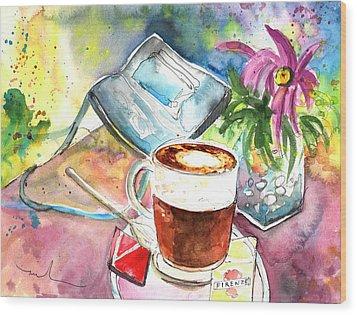 Latte Macchiato In Italy 01 Wood Print by Miki De Goodaboom