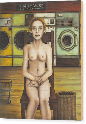 Laundry Day 5 Wood Print by Leah Saulnier The Painting Maniac