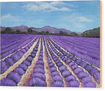 Lavender Field In Provence Wood Print by Anastasiya Malakhova