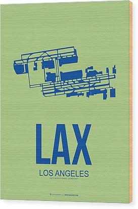 Lax Airport Poster 1 Wood Print by Naxart Studio