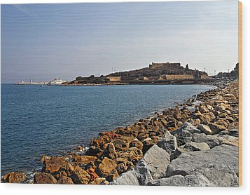 Le Fort Carre - Antibes - France Wood Print by Christine Till