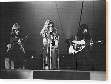 Led Zeppelin 1971 Wood Print by Chris Walter
