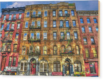 Led Zeppelin Physical Graffiti Building In Color Wood Print by Randy Aveille
