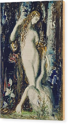 Leda  Wood Print by Gustave Moreau