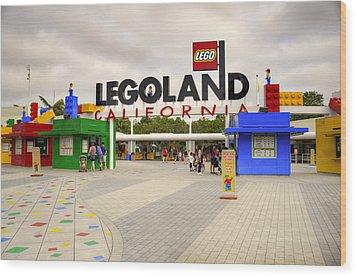 Legoland California Wood Print by Ricky Barnard
