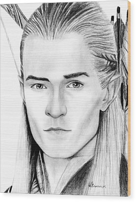 Legolas Greenleaf Wood Print by Kayleigh Semeniuk