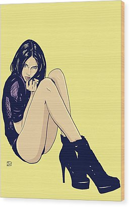Legs And Shoes Wood Print by Giuseppe Cristiano