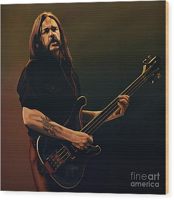 Lemmy Kilmister Painting Wood Print by Paul Meijering