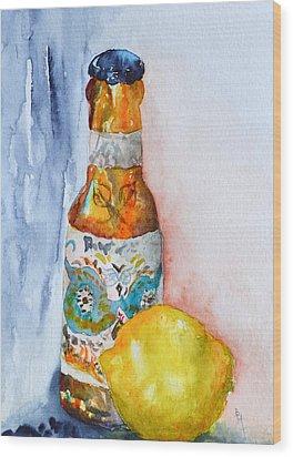 Lemon And Pilsner Wood Print by Beverley Harper Tinsley