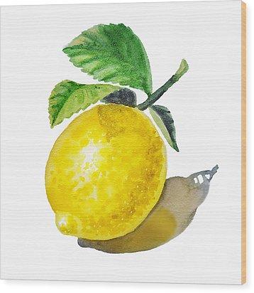 Lemon Wood Print by Irina Sztukowski