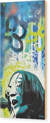 Lennon Wood Print by dreXeL
