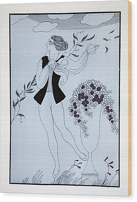 Les Sylphides Wood Print by Georges Barbier
