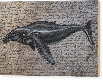 Leviathan Wood Print by Mark Zelmer