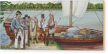 Lewis And Clark Wood Print by Beth Gramith