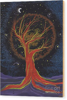 Life Blood Tree By Jrr Wood Print by First Star Art