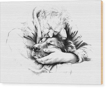 Life Together Wood Print by Natasha Denger
