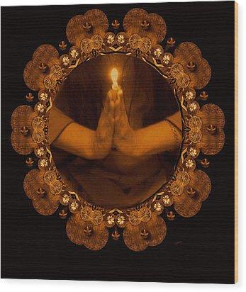 Light In The Dark Wood Print by Pepita Selles