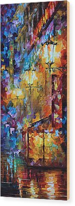 Light Of Night Wood Print by Leonid Afremov