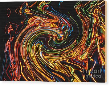 Light Painting 2 Wood Print by Delphimages Photo Creations
