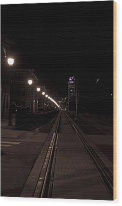 Light Rail Wood Print by Doug Hubbard