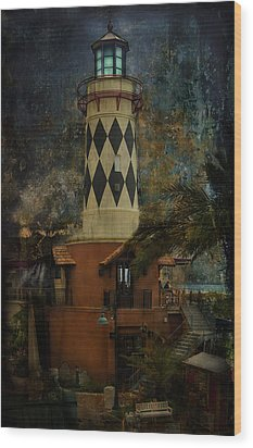 Lighthouse Wood Print by Mario Celzner