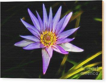 Lilac Lily Wood Print by Mariola Bitner