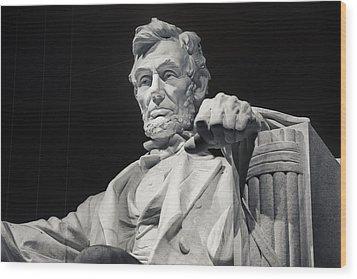 Lincoln Wood Print by Joan Carroll