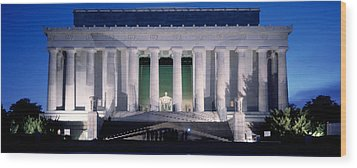 Lincoln Memorial At Dusk, Washington Wood Print by Panoramic Images