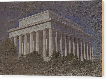 Lincoln Memorial Wood Print by Skip Willits