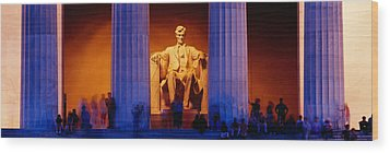 Lincoln Memorial, Washington Dc Wood Print by Panoramic Images