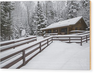 Lincoln Woods Ranger Headquarters - Lincoln New Hampshire Usa Wood Print by Erin Paul Donovan